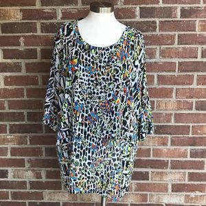 ⭐️Jade Multicolored Tunic Top Large